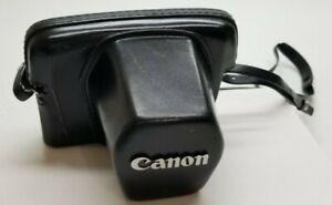 Original Black Leather Case & Strap for Canon 35mm Film SLRs