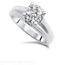 Ring Round Cut 18K Gold Ring 1.02 Ct Si1/D Enhanced Engagement Bridal Diamond