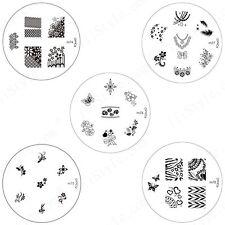 Konad Stamping Nail Art Circle Image Plate m74 m75 m76 m77 m78 DIY