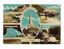 CORNISH POST CARD GREETINGS FROM ST. AGNES