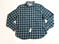 Nautica Mens Shirt Size 2XL XXL Long Sleeve Brushed Twill Plaid Button Front NWT