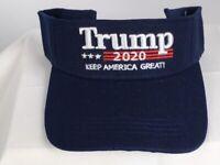 Blue TRUMP 2020 MAGA Keep America Great Visor Donald Trump - FREE SHIPPING!