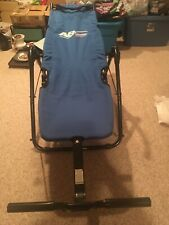 Ab Lounge Sport Abdominal Exercise Chair Blue Preowned