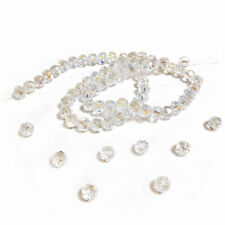 Clear Czech Crystal Beads Faceted Round 8mm AB Strand Of 70+