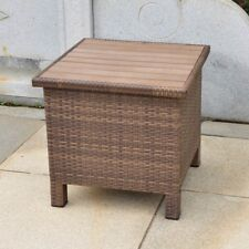 Barcelona side table (aluminum resin) antique brown- includes shipping