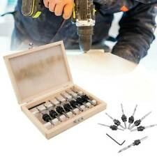 22x Woodworking Tapered Drill Countersink Bit Screw Set Collar Wood Pilot Hole