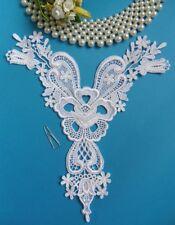 Victorian White Flower Venise Lace Rayon Collar Yoke Appliques-SA115