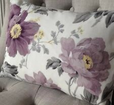 "12x16"" Cushion cover in Laura Ashley floral Peony garden amethyst & Austen"