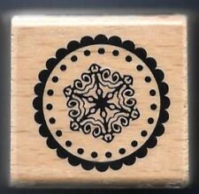 SNOW FLAKE CHRISTMAS SEAL Post envelope Gift Tag NEW HAMPTON ART RUBBER STAMP