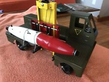 Vintage NY-LINT #2800 GUIDED MISSILE MILITARY TRUCK CARRIER Large Pressed steel