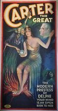 """""""CARTER THE GREAT"""" Affiche originale U.S. entoilée Litho 1935"""