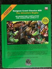 ✰SHIPS FREE/US✰ Dungeon Crawl Classics DCC # 29 The ADVENTURE BEGINS D&D 20 Advs