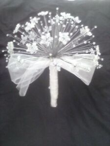 Crystal AB  Glass bead wedding bouquet perfect for brides and bridesmaids