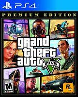 Grand Theft Auto: V Premium Edition for Sony® PS4 / PS5 Rockstar Crime - New!