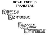 Royal Enfield Tank Transfers Decals Motorcycle White Black D51055