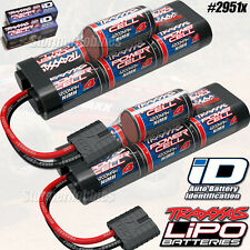 (2) Traxxas 2951X 7-cell 8.4V 4200mAh NiMH Batterys with iD for Rustler