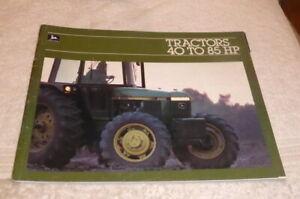 Classic John Deere full line brochure, Tractors 40 to 85 HP dated 1982