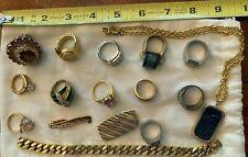 Jewelry Assortment - Chain, Ring, Pendant, Tie Tack, Money Clip, Bracelet
