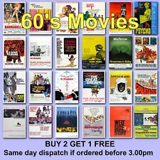 Poster Classic Movie Posters 1960s 60s Film Poster Films HD Borderless Printing