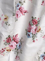 "Floral Shabby Chic roses 100% Cotton fabric .Quilting,Patchwork BTY, 64"" Wide"