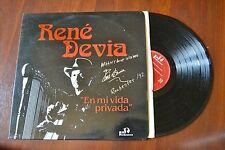 René Devia En Mi Vida Privada Latin Harp Autographed Signed Record lp