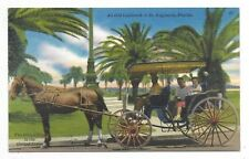 ST. AUGUSTINE, FLORIDA oldest city in United States - tourist horse and carriage