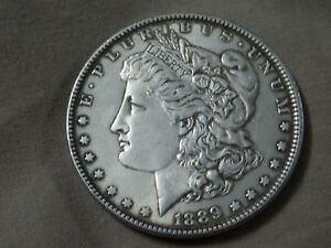 1889 Morgan Silver Dollar 1$ SILVER USED