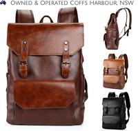 New Men Women Girl Black Brown Best Leather Work Casual Schoolbag Backpack Bag
