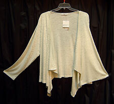 LIZ CLAIBORNE ANIMAL OPEN DRAPE FRONT KNIT CARDIGAN JACKET SWEATER TOP~3X~4X~NEW