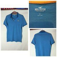 Hollister Mens Cotton Stripy Blue Short Sleeve T Shirt XL (A70)