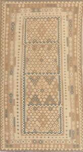 Diamond Shape Geometric Oriental Kilim Hand-Woven Area Rug South-Western 6x10