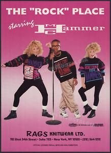 MC HAMMER - Winterland Rock Express__Original 1991 Trade Print AD / poster