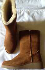 Boots ladies size 7M EUR 38 new Koolaburra by Ugg chestnut fur lining