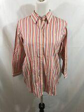 Ralph Lauren pink, white, orange, blue stripe long sleeve button down - womens L