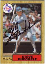 1987 O-Pee-Chee Steve Buechele #176 Auto Autograph - Texas Rangers