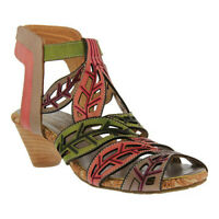 L'Artiste by Spring Step Women's   Bohochic Caged Sandal