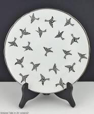 (12) TUSCAN English China Art Deco PLATINUM CRANES Dessert Salad Plates