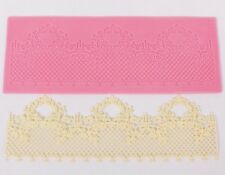 Pink Lace Swag Silicone Mold Sugar Craft Fondant Cake Decorating Baking Pad Mat