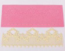 Pink Lace Swag Silicone Mold Sugar Craft Fondant Cake Decorating Baking Pad Mat
