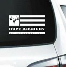 B208 TEAM HOYT ARCHERY HUNTING ARROW BOW WHITE VINYL DECAL CAR TRUCK SUV LAPTOP