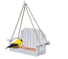 Shabby Chic Bianco Appeso Da Giardino In Legno Mangiatoia Per Uccelli
