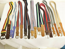 9 Vintage Lot - Cantebury Stretch Belts - 1 Braided Belt - Leather Ends