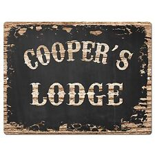 PP3865 COOPER'S LODGE Plate Chic Sign Home Kitchen Decor Birthday Gift