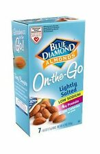 Blue Diamond Lightly Salted Almonds 100 Calorie Bags (Case of 6) Low Sodium