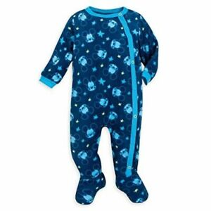 Disney Store Mickey Mouse Baby Sleeper Blue All Over Print Size 6-9 Months