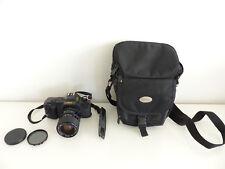 Canon T50 Kamera mit Exakta 35-70mm 1:3,5 - 4,5 Objektiv Lens
