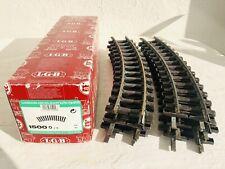 11 Pieces Of Lgb R2 Curved Track Medium Radius G-Scale 15000 In Original Box