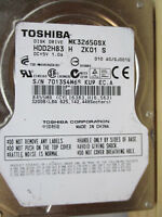 "320 GB Toshiba MK3265GSX GJ001Q KU9 HDD2H83 H 2,5"" disco rigido 010 A0 EC.A"