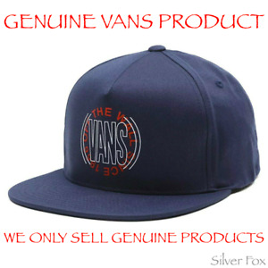 VANS FREQUENCY DRESS BLUE FLAT BILL BRIM SNAPBACK CAP HAT BRAND NEW WITH TAGS
