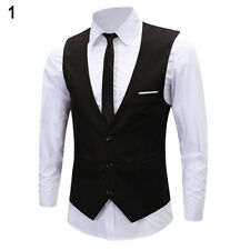Men's Formal Business Slim Fit Chain Dress Vest Suit Tuxedo Waistcoat Gracious